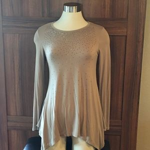 Vocal long sleeve glitter top size small